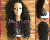 ON SALE // Long Curly Half Wig, Big Curly Wig, Long Black Wig, Kinky Curly Wig // PROMISE