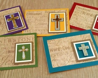 Blank Religious Notecards | 4x5 Religious Note Cards | Handmade Religious Notecards | Blank Scripture Notecards | One of a Kind Note Card