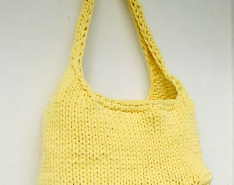 "knitted bag ""Lemon summer'"