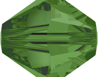 Swarovski Crystal Bicone Beads 5328 -3mm 4mm 5mm 6mm 8mm - Fern Green