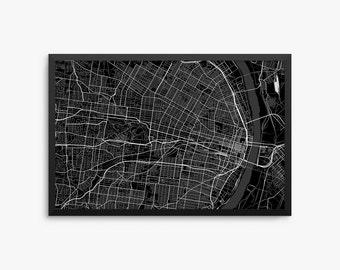 saint louis city street map saint louis missouri usa modern art print saint - Home Decor St Louis Mo