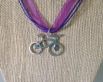 Heart Mountain Bike Choker Necklace
