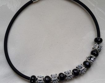 "necklace ""Butterfly"" Black and Silver"