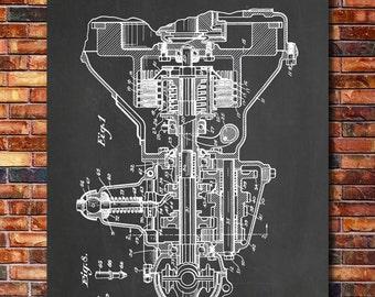Ford Transmission Patent Print Art 1930