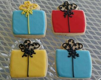 Birthday Present Cookies_Favors_Customized Sugar Cookies