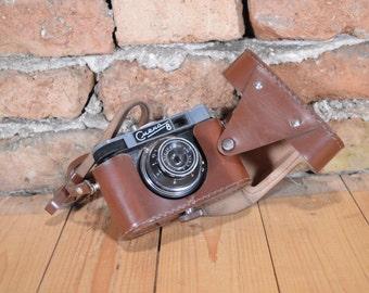 Vintage Smena 8 Lomo Camera, Soviet USSR Photo Camera, Travel Camera, 35mm film viewfinder,  woorking except Self-timer