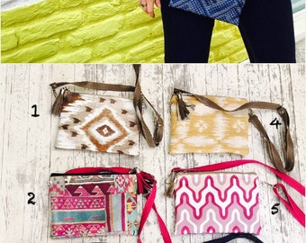 Gift idea : Hip bag, free Bag, fanny bag, little Clutch boheme ethnic in n wax african print with adjustable strap