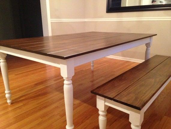 Extra wide dark walnut farm table with legs for Extra long farmhouse table