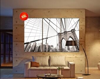 Manhattan bridge wall art print prints on canvas Manhattan bridge, New York City photo art work framed art artwork