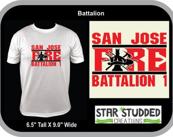 Battalion Fire House Shirt, Can be Fully Customized for YOUR HOUSE! Your Colors!!