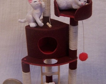 Cat tree to be set up in a corner