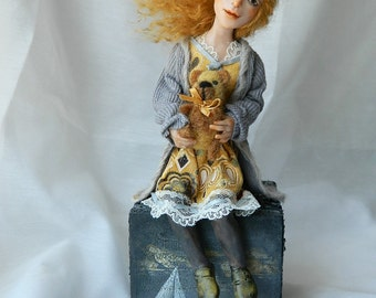 OOAK original art doll sculpture figurine