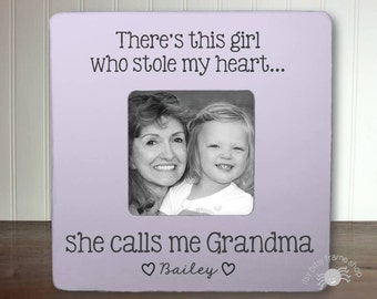 Gifts for Grandma Grandma Gift Mother's Day Gift Grandma Frame Personalized Frame There's Girl Who Stole My Heart Calls Me Grandma IBFSMAG