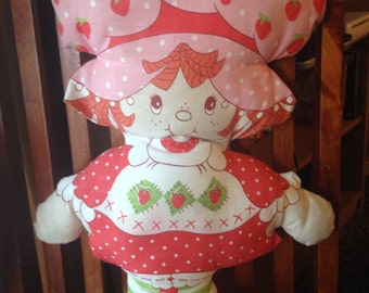 Vintage Original Strawberry Shortcake Pillow