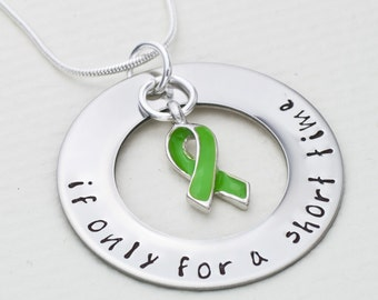 Anencephaly Awareness Necklace | If Only For A Short Time | Hand Stamped Necklace | Fundraiser Jewelry | Cause Jewelry | Awareness Jewelry