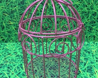One Mini Metal Wire Bird Cages