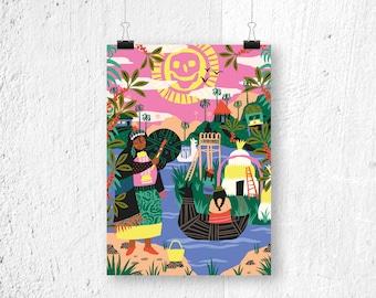 Poster A3 - Latin Cultures - digital print