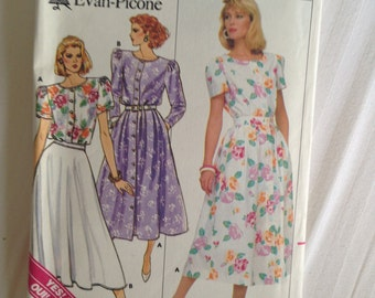 Misses Top & Skirt. Size 8 Butterick #3795 Easy!