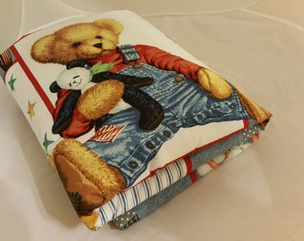 Baby Blanket - Baby Comforter - Baby Quilts - Toddler Blanket - Toddler Comforter - Toddler Quilts - Teddy Bear and Friends *R38*