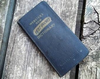 RARE 1945 Webster's VEST-POCKET dictionary
