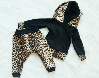 Cheetah Print Leggings & Hoodie Set