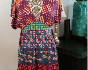 Fire Los Angeles Bohemian Style Lycra Dress. Size small