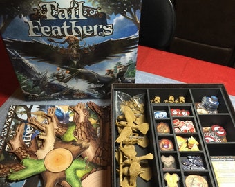Tail Feathers board game foam insert