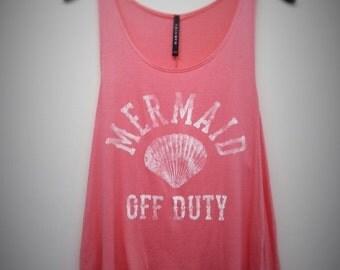 Mermaid Off Duty Tank top (Coral)