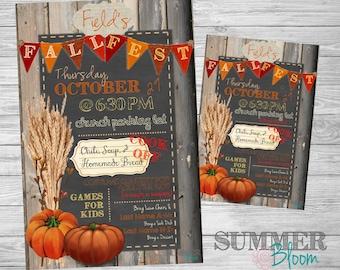 Fall Festival Poster and Invitation