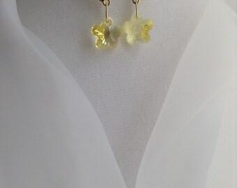 Yellow Butterfly Swarovski Crystal Earrings