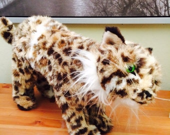 1978 Dakin Plush, Stuffed Cheetah, Jaguar, Leopard Wild Cat Plush