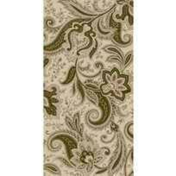 Quilting Treasures Imperial Olive/Taupe Paisley by Waverly