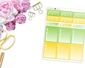 2016 August ECLP Habit Trackers -- Matte Planner Stickers