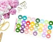 Mini Dots -- Filming -- Matte Planner Stickers