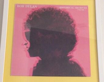 Bob Dylan Vinyl Framed