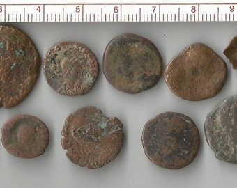 lot of 14 roman coins