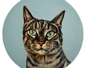 Pet Portraits Original Oil on Paper Paintings