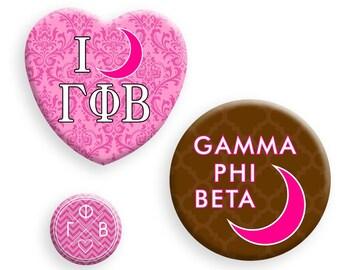 Gamma Phi Beta Button Set