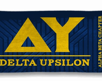 Delta upsilon etsy for Delta upsilon letters