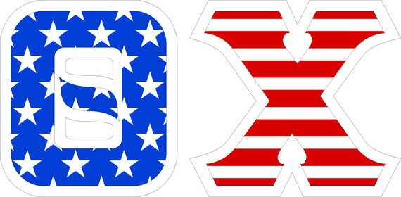 theta chi american flag giant greek letter sticker