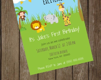 Jungle Friends Digital Invitation