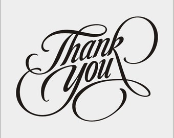 Thank You -  svg - ai - dxf - cdr - pat - jpeg - png - pdf - wmf - docx - Printable Clipart - Iron on Transfer -  Laser Engraving