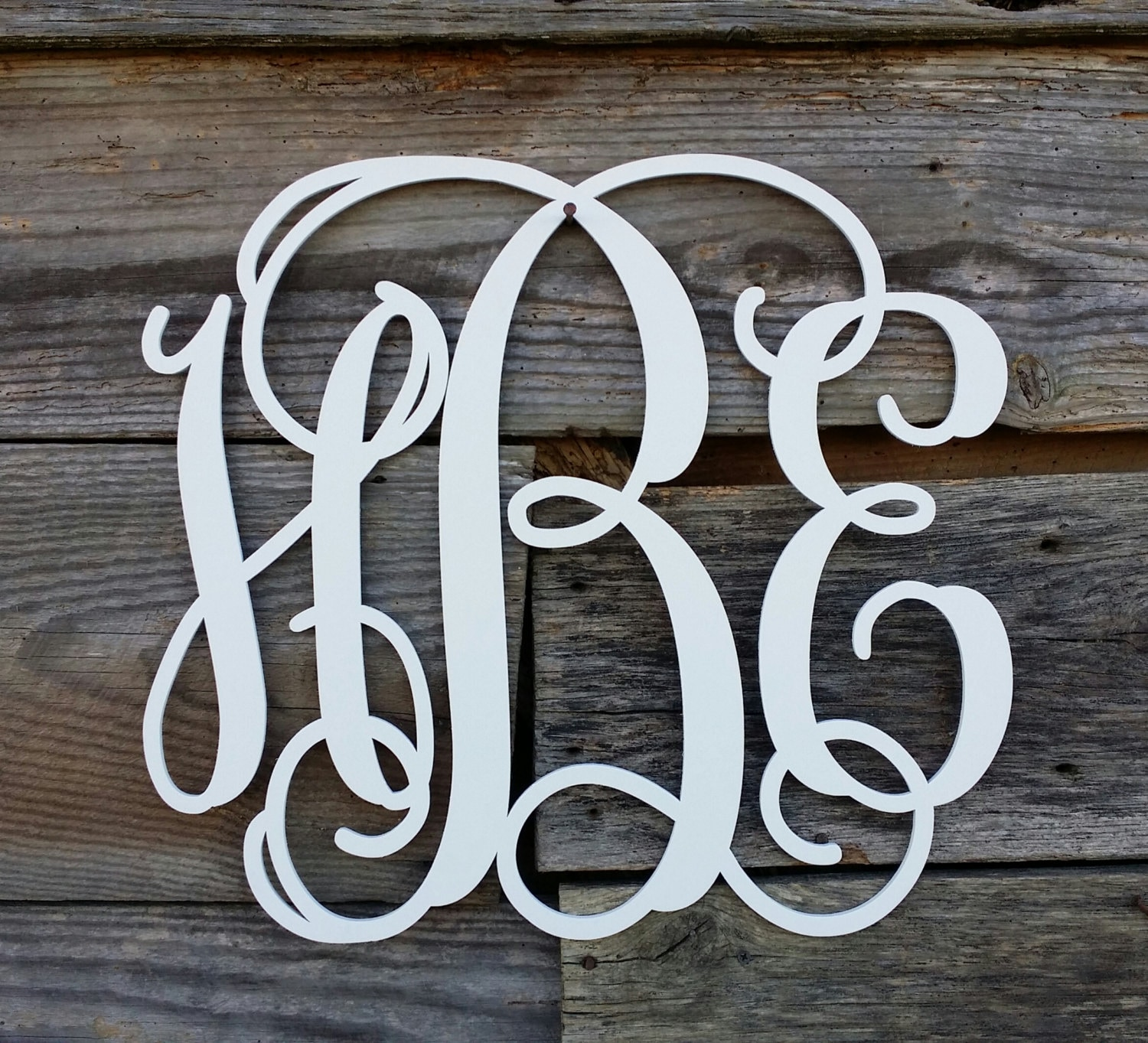 Painted Wooden Monogram Wooden Monogram Wall Hanging By