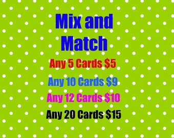 Mix and Match Any Embossed Blank Greeting Cards Sets of 5, 10, 12 or 20