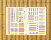 S211 - 75 Spring Fling Weekly Planner Stickers