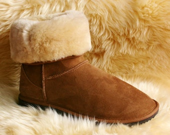 Women's Short Boots Made in AUSTRALIA from 100% SHEEPSKIN - Since 1981