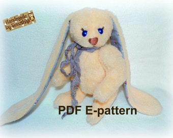 Artist Teddy Bunny Pattern by Sovushka 7,5 inches e-pattern PDF teddy rabbit