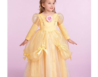 Simplicity 1303 UNCUT Toddler Princess Costume Sewing Pattern: Belle Cinderella Tinkerbell Sleepinng Beauty Candy Corn Size 1/2, 1, and 2