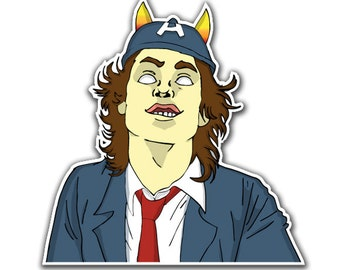 Angus Young ACDC Sticker - Schoolboy