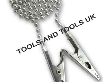 Set di 2 Portasalvietta Dentistico Rubinetto Clip Flessibile Sfera 25.4cm Catena